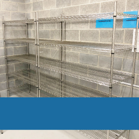 Static stainless steel shelving kits